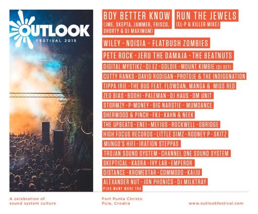 Outlook Festival Croatia - first names revealed - flyer