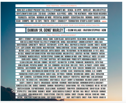 Outlook Lineup 2016